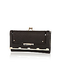 Black snake clip top purse