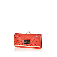 Coral new deco clip top purse