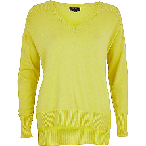 Lime oversized jumper