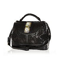 Black lace gem stone doctors bag