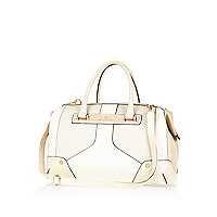 Cream contrast panel doctors bag
