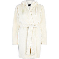 Cream borg dressing gown