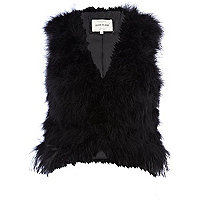 Black feather gilet