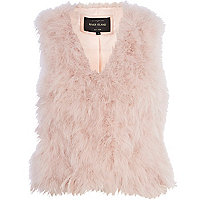 Light pink feather gilet