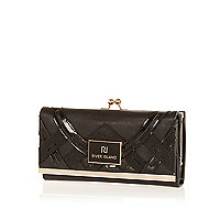 Black new deco clip top purse