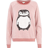 Pink Penguin sequin dolman top
