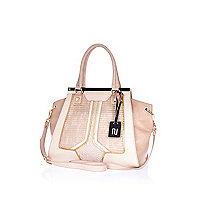 Light pink premium quilted tote bag