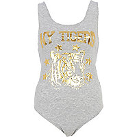 Grey NY Tigers print body