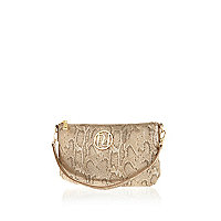 Gold snake RI clutch bag
