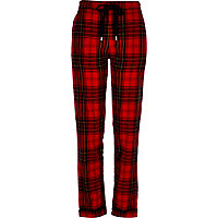 Red brushed check pyjama bottoms