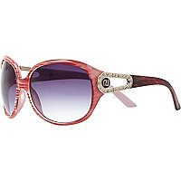 Pink animal print sunglasses