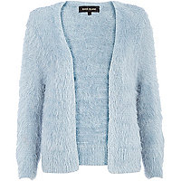 Light blue fluffy cardigan