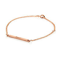 Rose gold plated love bar bracelet