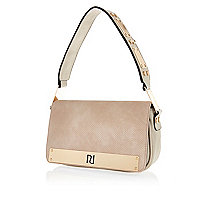 Cream metal trim underarm bag