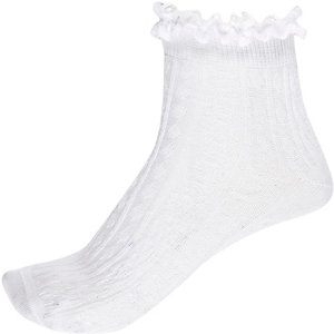 White frill ankle socks