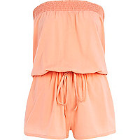 Coral bandeau waisted playsuit