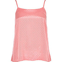 Pink polka dot cami top