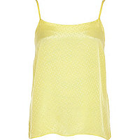 Light yellow polka dot cami top