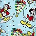 Blue Mickey Mouse Christmas print joggers