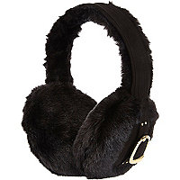 Black buckle side earmuffs