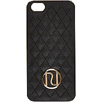 Black quilted RI iPhone 5 case