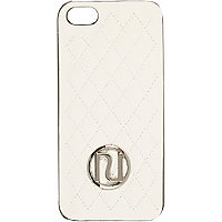 Cream quilted RI iPhone 5 case