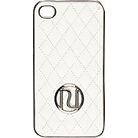 Cream quilted RI iPhone 4/4S case