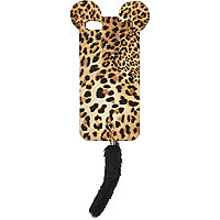 Brown leopard print animal iPhone 5 case