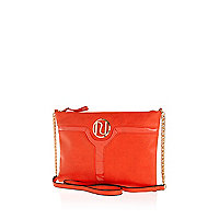 Coral cut out panel cross body bag