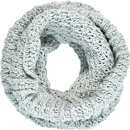 Pale blue chunky knit snood