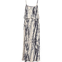 Beige tie dye cami maxi dress