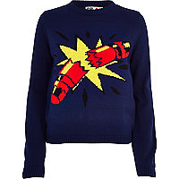 Blue Chelsea Girl cracker jumper