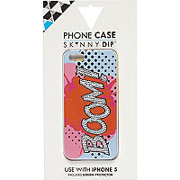 Orange Skinnydip boom iPhone 5 case