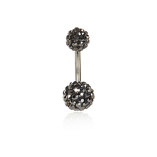 Grey encrusted belly bar