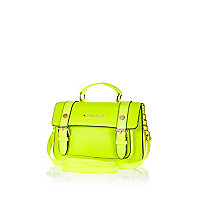 Bright lime mini satchel