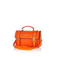 Bright orange mini satchel