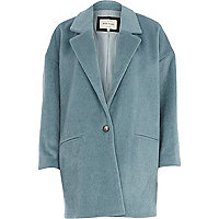 Blue soft oversized coat