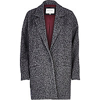 Grey tweed oversized coat