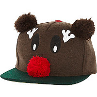 Brown Rudolph trucker hat