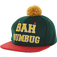 Green bah humbug trucker hat