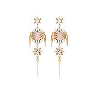 Light pink cocktail earrings