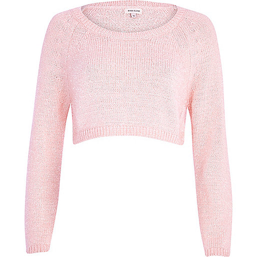 Light pink cropped jumper