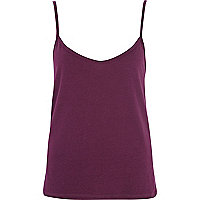Dark purple cami top