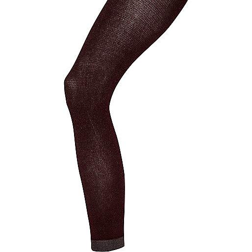 Dark red Jonathan Aston metallic tights