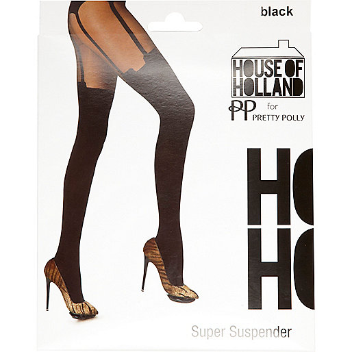 Black House of Holland super suspender tights