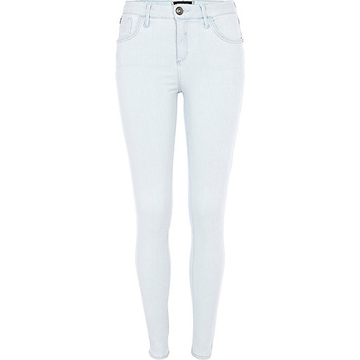 Light wash reform Amelie superskinny jeans