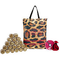 Leopard print sleep-in rollers set
