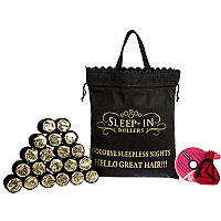 Black and gold sleep-in rollers set