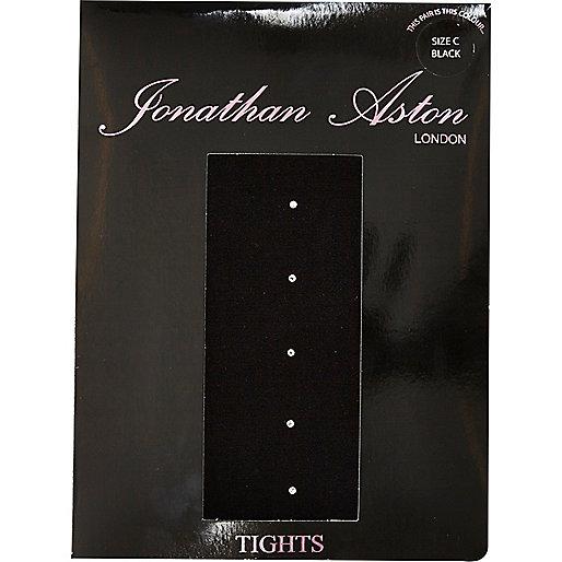 Black Jonathan Aston crystal backseam tights