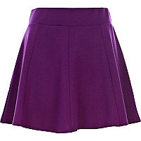Dark purple skater skirt